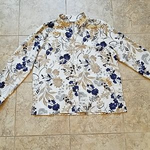 Alfred Dunner floral button down shirt